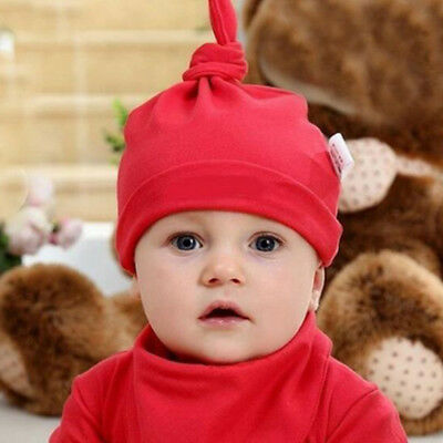 Newborn Baby Cotton Beanie Hat Boys Girls Soft Cap Infant Toddle 0-6 Mont Hot!