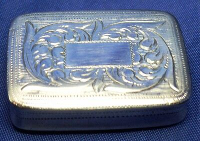 Very Nice Small Solid Silver Georgian Vinaigrette By Joseph Willmore London 1826