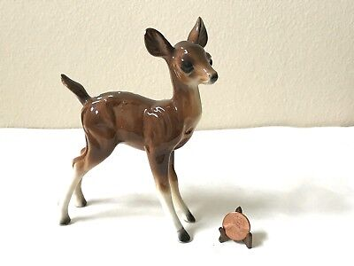 "Vintage 5.5"" Porcelain Bone China Standing Fawn Deer Woodland Animal Figurine"