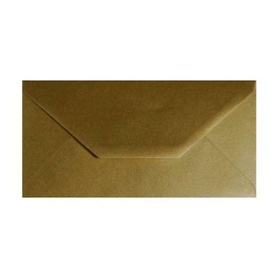 5 x DL Metallic Gold Greeting Cards Envelopes Wedding Invitation Craft 110x220mm