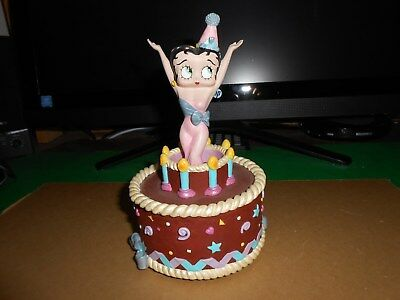 Betty Boop Birthday Cake Figurine ( Chocolate )