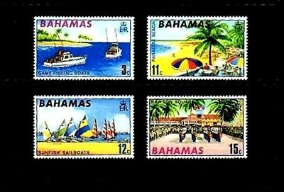 Bahamas - 1969 - Fishing - Sailboat - Beach - Tourism - Mint - Mnh Set!