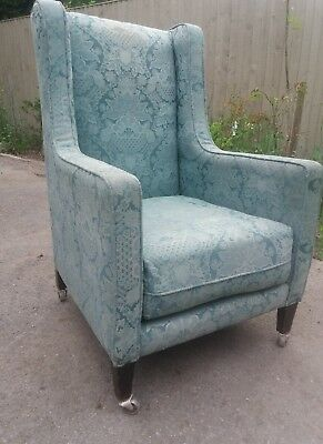 Antique Country House Armchair On Castors. Project