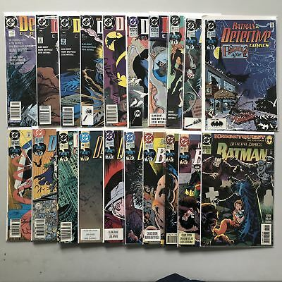Lot of 20 Detective Comics (1937 1st Series) from #600-671 VF Very Fine