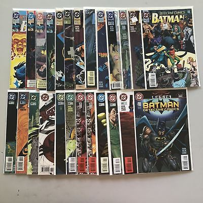 Lot of 25 Detective Comics (1937 1st Series) #661-700 VF Very Fine