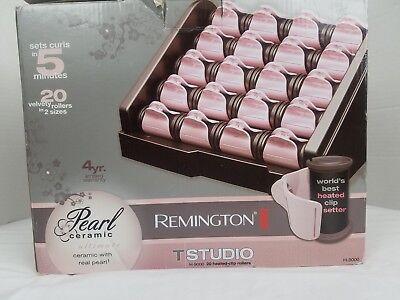 Remington H9000 Pearl Ceramic Heated Clip Hair Rollers Hot Electric Curlers