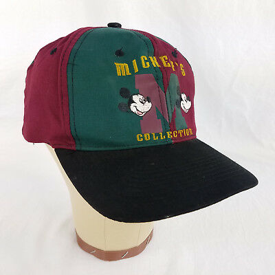 Disney Mickey Mouse Unlimited Collection Red Green Two-Tone Snapback Hat Cap ebc2e2184cee