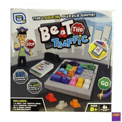 Beat The Traffic Rush Hour Traffic Jam Gridlock Logic Puzzle Game Family Fun Toy
