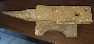 RAILROAD TRACK ANVIL with Horn & 2 Pritchel holes Blacksmith Knife Making  HEAVY