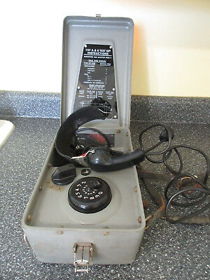 Vintage Western Electric Bell System 107B Test Set A&B Lineman's Telephone
