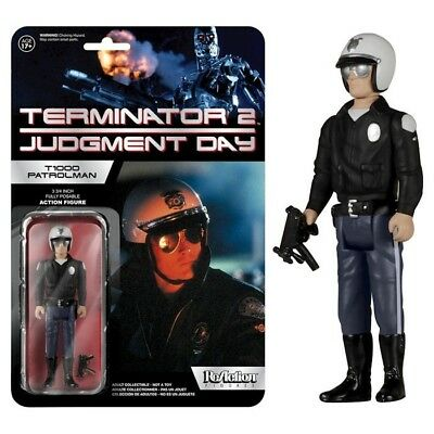Funko Reaction Terminator 2 T1000 Patrolman Vintage Retro Figure New! T 1000