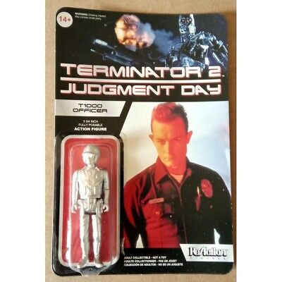 Funko Reaction Terminator 2 T1000 Patrolman Metallic Variant Vintage Retro Figur
