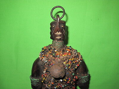 OUTSTANDING ANTIQUE 19th CENTURY AFRICAN NAMJI DOLL SCULPTURE VOODOO