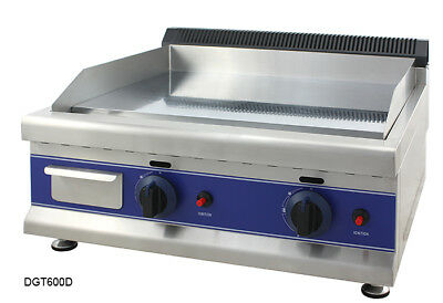 Brand New Commercial LPG Gas Griddle Hotplate Grill 65cm With 2 Burner