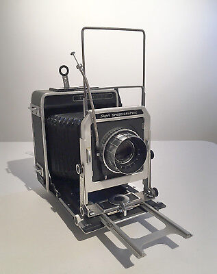 Graflex Super Speed Graphic 4x5 Film Camera with Rodenstock 135mm Optar