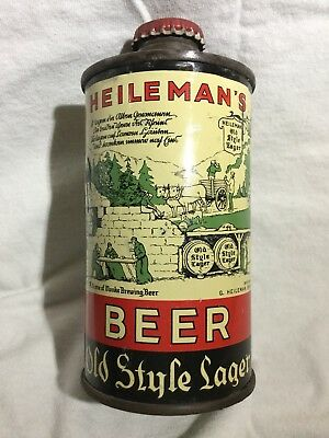 "Clean Heilemans Old Style Lager ""Fbir"" Cone Top Beer Can"