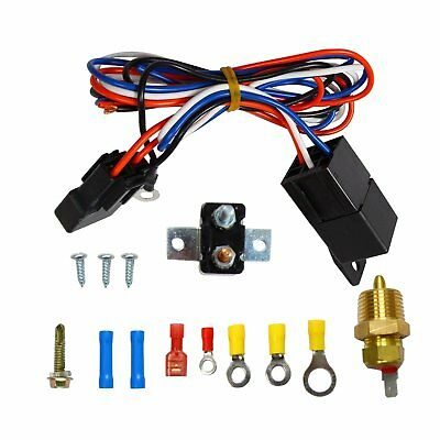 UNIVERSAL ELECTRIC RADIATOR Engine Fan Relay Kit Thermostat