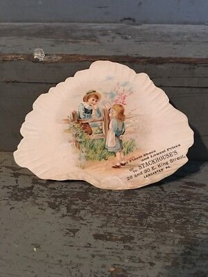 Rare 1890s Trade / Blotter Advertisement Card Lancaster Pa Stackhouse Shoes Boot