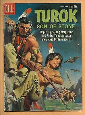 Dell TUROK SON OF STONE No. 19 (1960) Way out of Lost Valley!