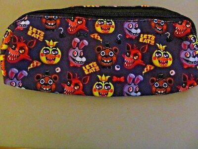 Five Nights At Freddy's Purple Canvas  Pencil Case, Cosmetic Bag, Purse (NEW)