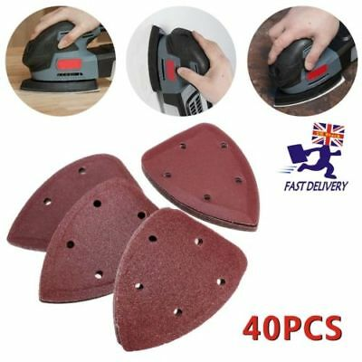 Detail Sanding Sheets,Mouse Sander Pads,140mm Punched Triangle,40,80,120,240 UK