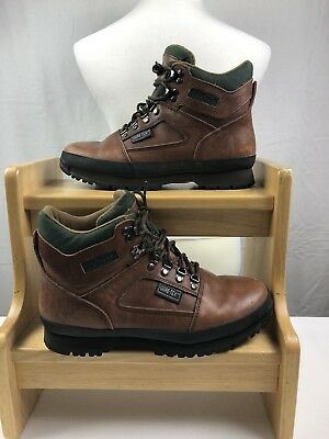 358ad84b9 LL BEAN LEATHER Hiking Boots Gore-Tex Brown Knife Edge Men s Size ...