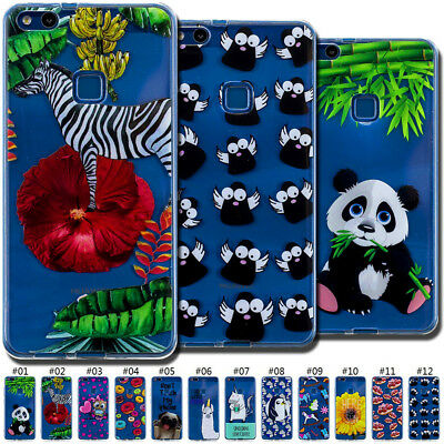 Shockproof Cute TPU Clear Skin Soft Silicone Back Case Cover For Huawei P10 Lite