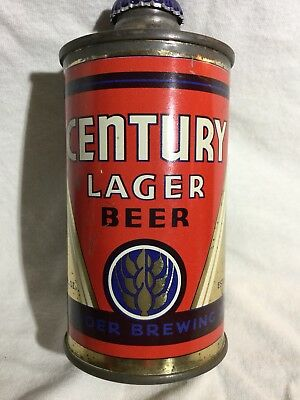 "Clean And Scarce Century Lager ""Fbir"" Cone Top Beer Can"