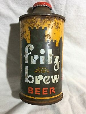 Scarce Fritz Brew Cone Top Beer Can