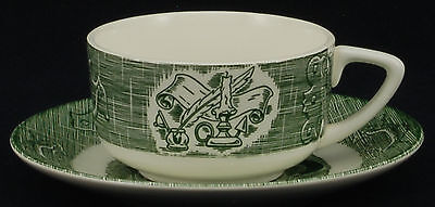 Royal Old Curiosity Shop Green Cup and Saucer No Logo