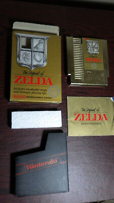 The Legend Of Zelda In Box With Manual Nintendo NES Original 1987