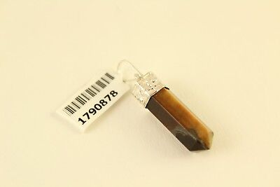 South African Tigers Eye Natural Point Crystal Shape Jewelry Pendant TGW 3.35cts