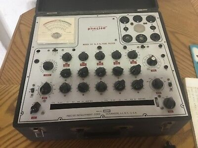 Vintage Precise 111 GM/EM Tube Tester. AS IS