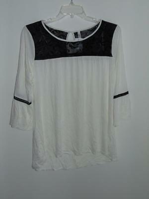 b336270f5ec WTC1521 NY COLLECTION Women s Plus Lace-Yoke Bell-Sleeve Top NWT ...