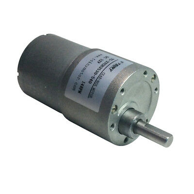 12V DC Small Gear Motor Parallel Angle Reversible Gear-Box Electric Motor 37GB