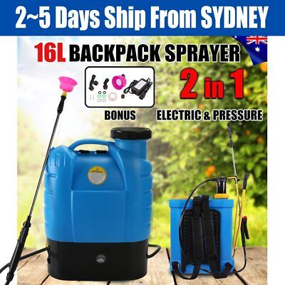 16L Electric Weed Sprayer 12V Rechargeable Knapsack Pressure Garden Pump NSW