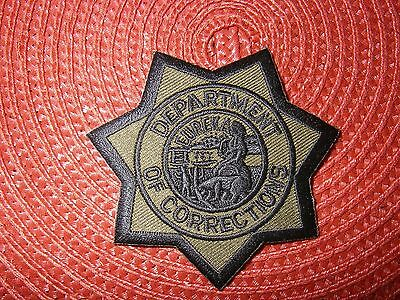 California Department of Corrections Star Patch Subdued