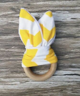 White/Yellow Baby Teething Ring Wood Ring Maple Teething Natural Toy For Baby