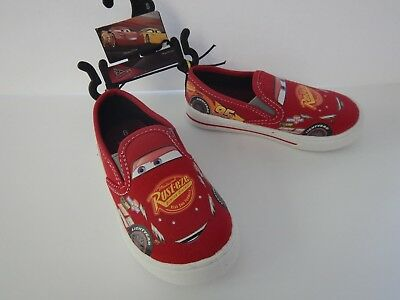 Disney Cars Lightning McQueen Boys Kids Toddler Canvas Sneakers Shoes 8 9 10 11