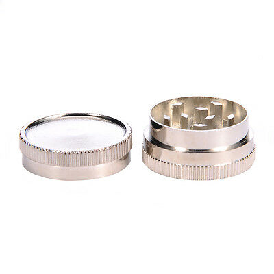 2 Layers Zinc Alloy Metal Herb Herbal Crusher Hand Muller Smoke Herb Grinder US