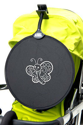 My Buggy Buddy Sun Shade Universal Clip on Parasol, Car & Buggy Butterfly.