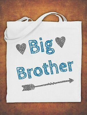 Big Brother Birthday Present Gift Baby Kids Tote Bag Childrens Cotton