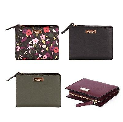 NWT Kate Spade Laurel Way Small Shawn Leather Zipper Wallet Card Case Coin