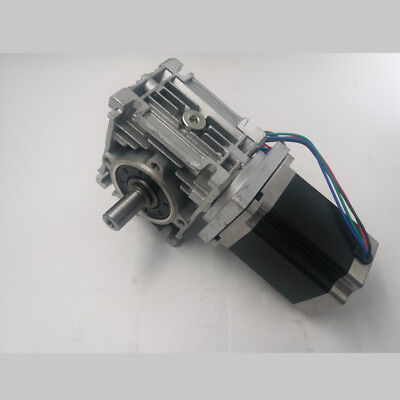 Ratio 5:1~80:1 Worm Reducer Gearbox Nema23 Stepper Motor L76mm 1.8N.m CNC Router