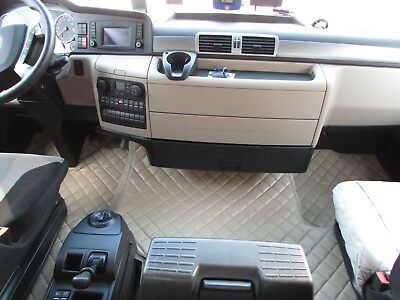 TRUCK Floor Mats LHD For MAN TGX 2006 - 2018 EURO 5 6 AUTOMAT BEIGE Eco Leather