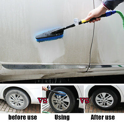 Car Soft Wash Brush Hose Adapter Vehicle Cleaning Tool Water Cleaner Car Care