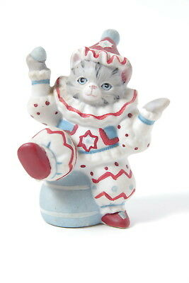 Great Schmid Kitty Cucumber Clown Kitty Figurine Very Colorful And Cute