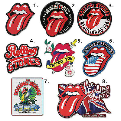 Rolling Stones Patch Iron On Patches The Beatles Queen Pink Floyd Official