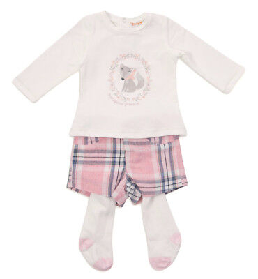 Babybol Barcelona Girls Adorable Spanish Designed Top Shorts & Tights Outfit