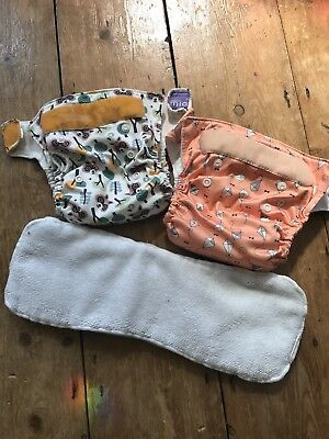 2 Bambino Mio Miosolo all in one birth to potty nappies with booster inserts